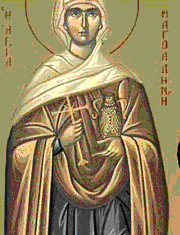 Sfanta Maria Magdalena tamaduita de catre Hristos
