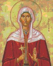 Sfanta Hristina s-a nascut in cetatea Tir