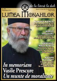 coperta Lumea Monahilor nr. 101 noiembrie 2015